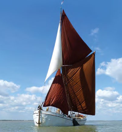The classic, full-sail Thames Barge; a historic Brixham Trawler; and two 10m Hanse yachts make up the fleet used by Dementia Adventures.