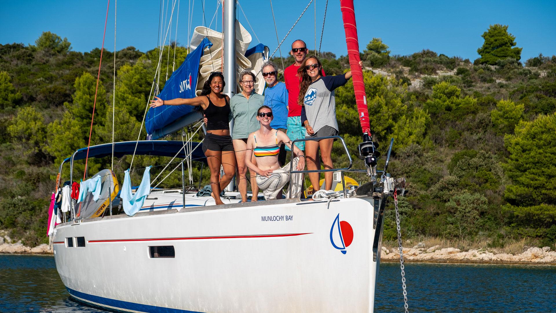 Kristin Pederson's Flotilla Crew in Croatia