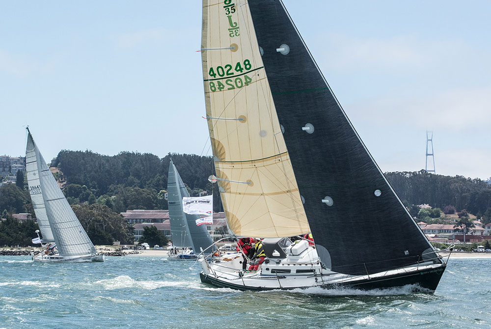 J/35 Shearwater is another Pacific Northwest boat headed for Hawaii.