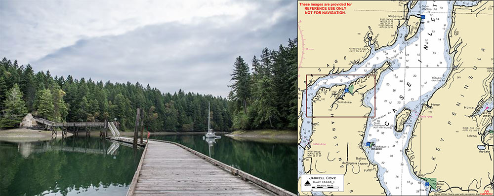 Jerrell Cove State Park in the South Sound is a quiet dock to visit in the winter.