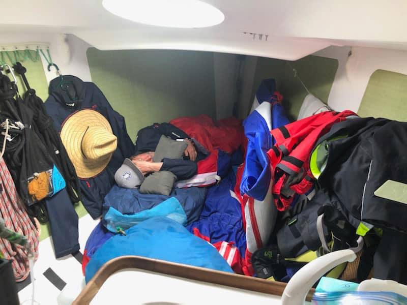 Sleeping on an offshore race boat usually has its compromises.