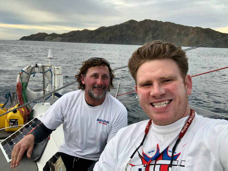 Navigator Spencer Kunath (right) and Chris Roberts (left).