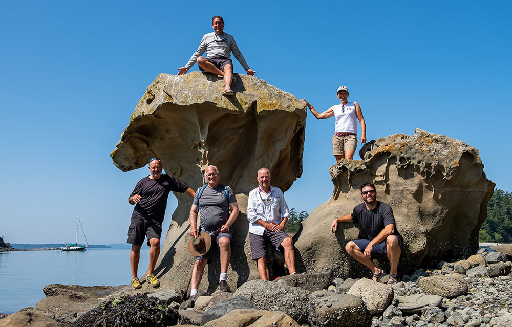 Some of the 48° North Rally Crew at the Mushroom Rock