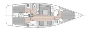 Catalina 425 layout