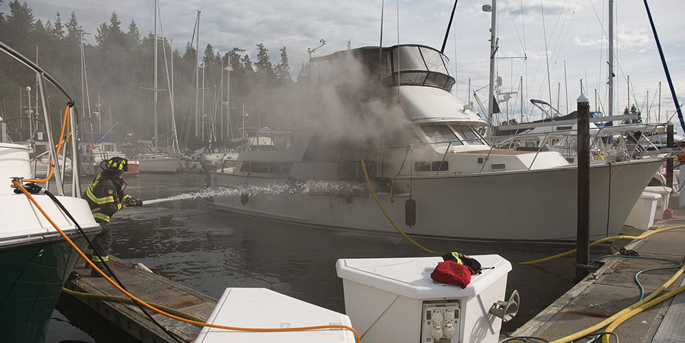 The combination of liveaboard response and the quick arrive of firefighters prevented a bigger disaster.