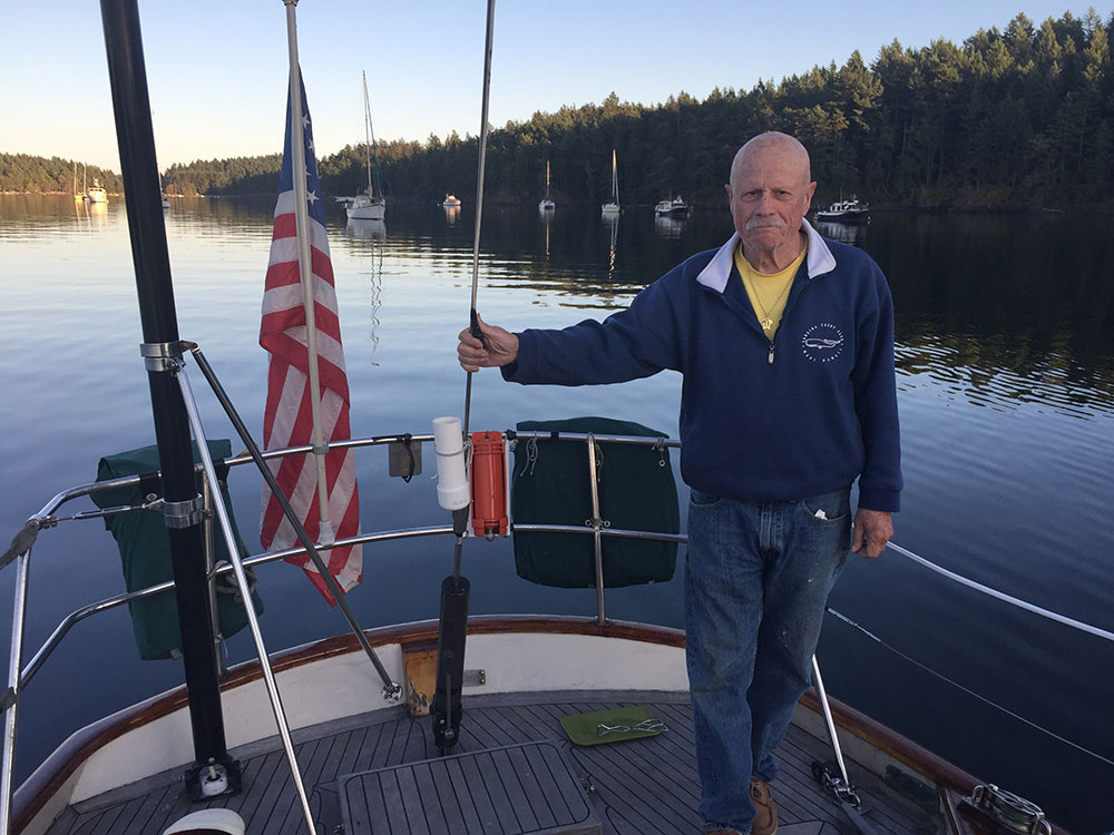 Not only a racer, Doug won the Cruising Club of America's Highest Honor.