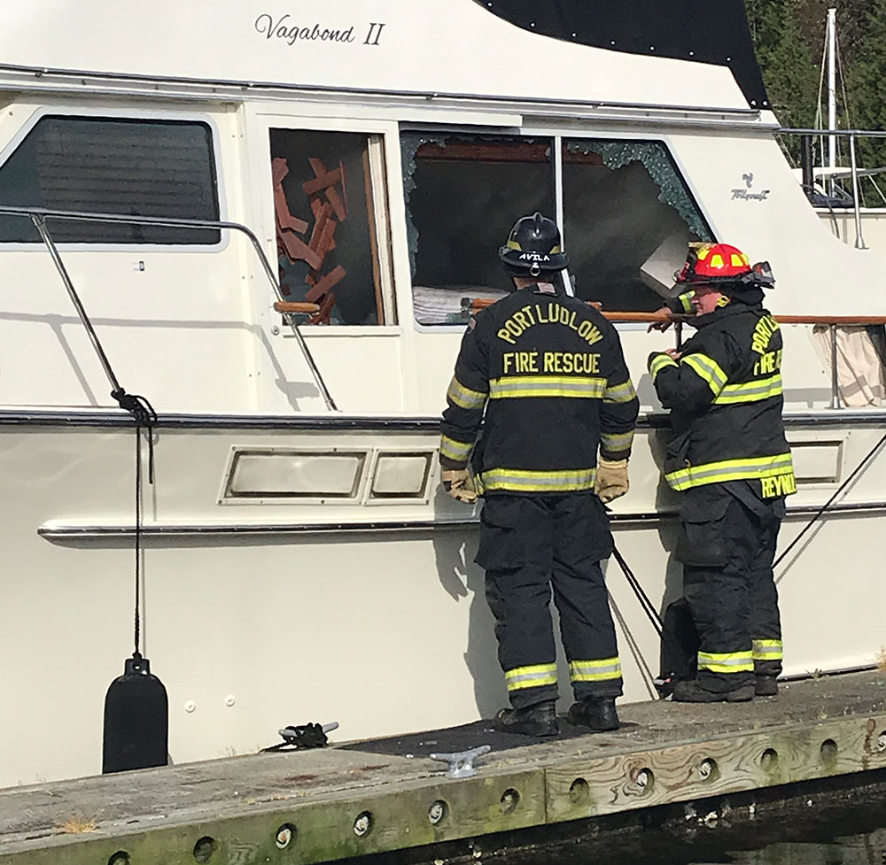 Port Ludlow Fire Rescue team had to break windows to gain access.