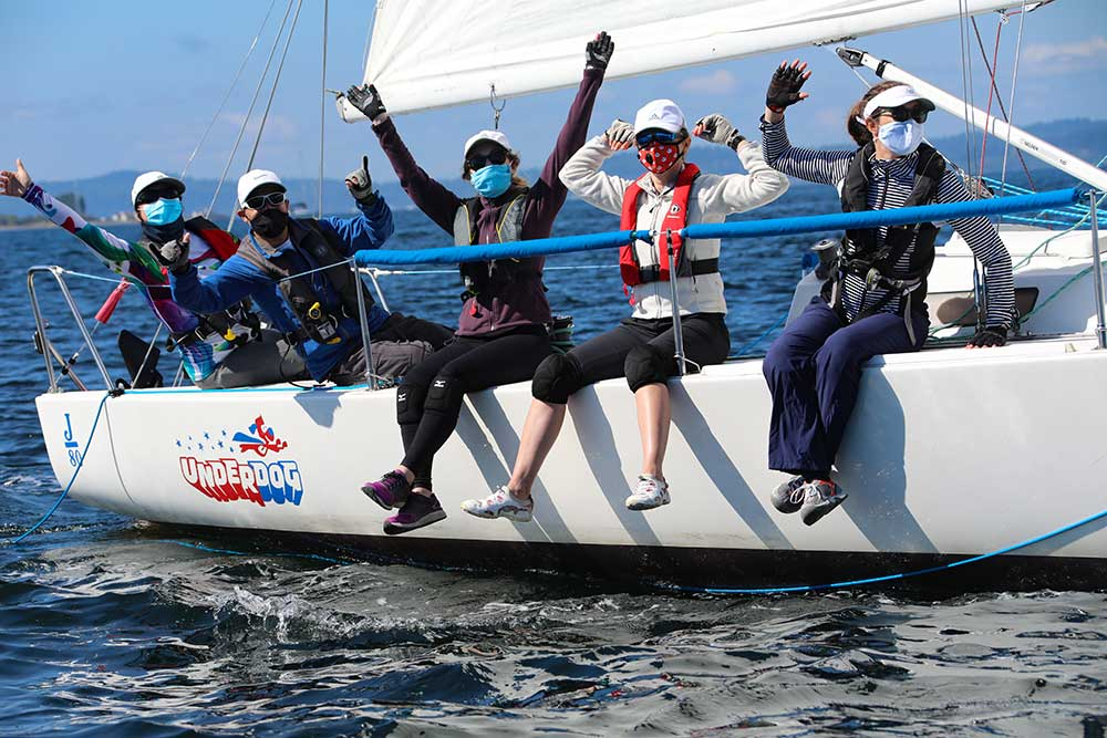 Happiness and empowerment were on full display at the Women at the Helm regatta. Photo by Jan Anderson.