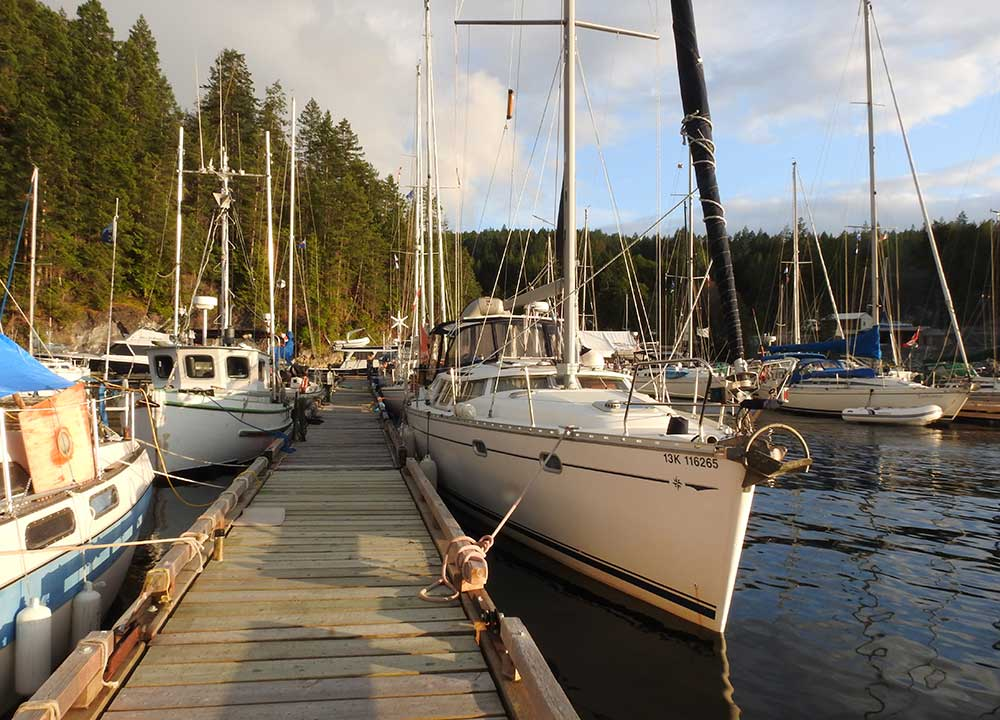 The author loved the eclectic group of fellow cruisers she (distantly) met on the dock!
