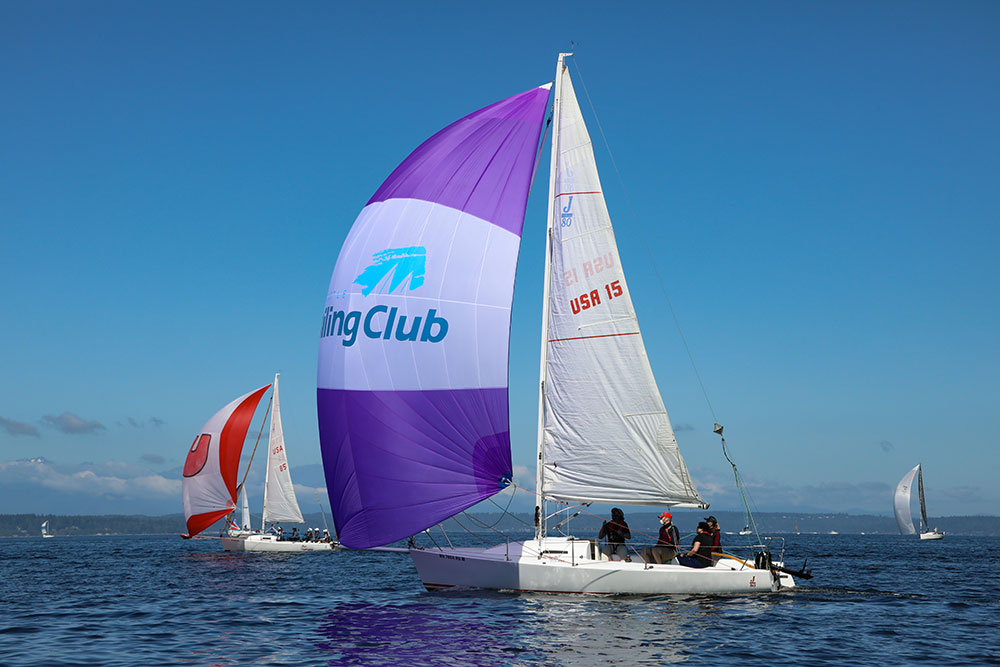 Conditions were terrific for a summertime regatta. Photo courtesy of Jan Anderson.