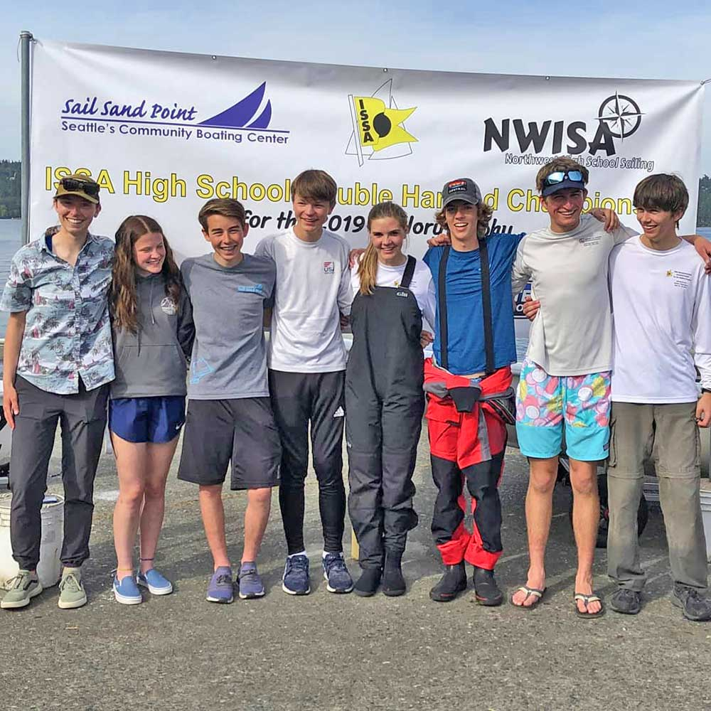 Olympia High School at the Mallory Cup Nationals (fleet racing). Olympia broke a NWISA record and placed 11th among the top 20 teams in the country.