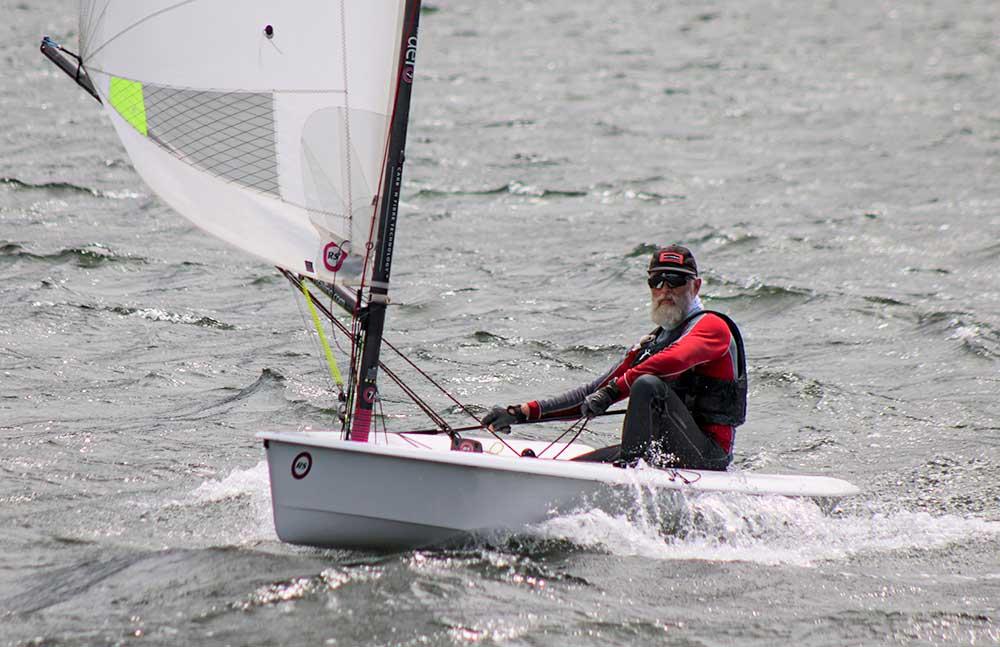 Gorge veteran Dan Falk sailed to a podium finish in a deep fleet.