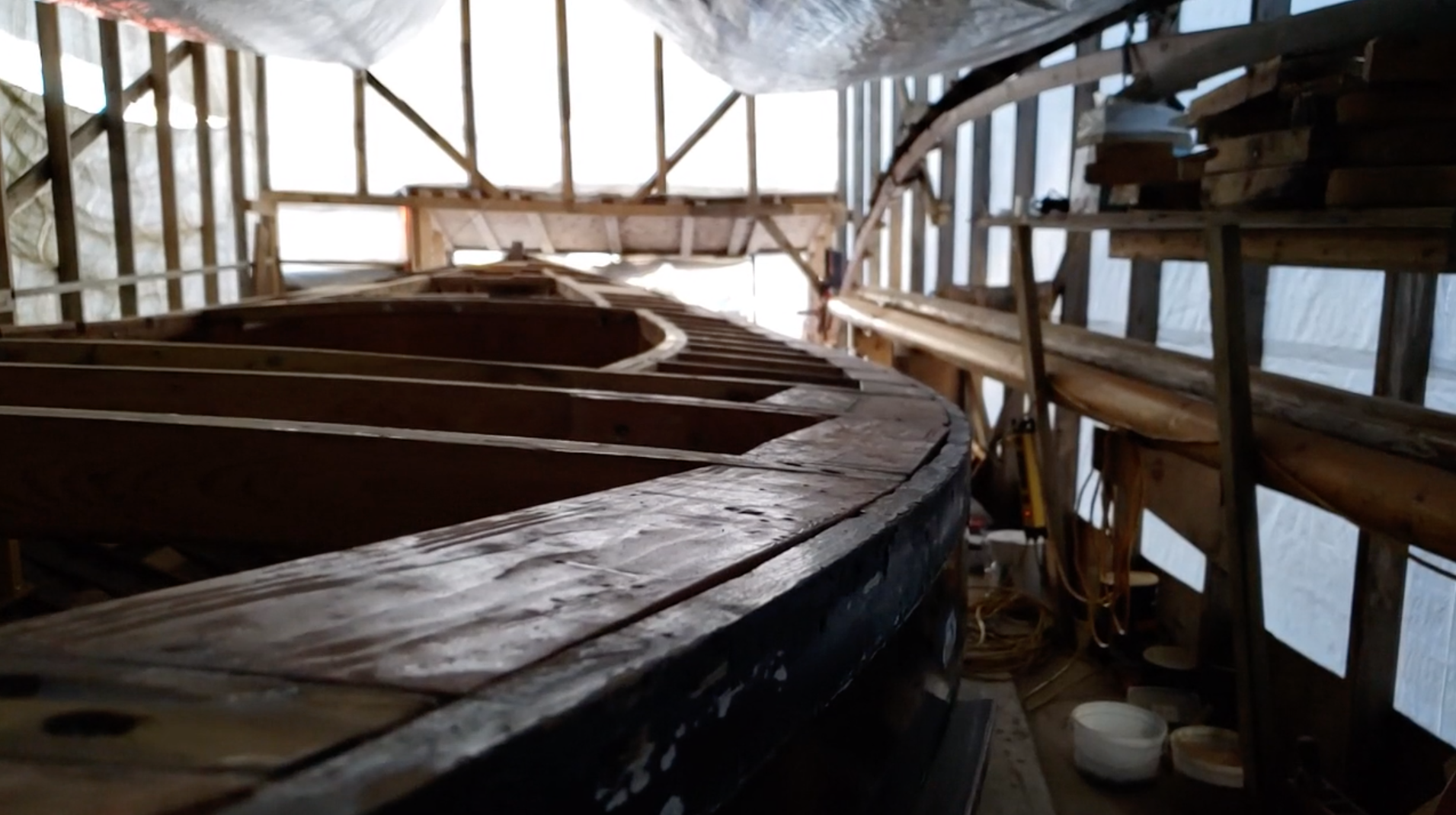Boat tours, like this one of BC-based, Nanoose created the feeling of connection for which the Wooden Boat Festival is known.
